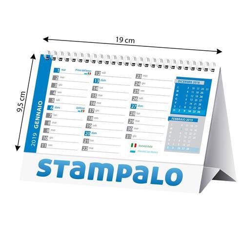 Calendario F.Calendario Da Tavolo Personalizzato F To19x14
